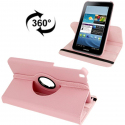 Housse Samsung Galaxy Tab 3 SM T3100 8 pouces support 360° Rose Clair - www.yonis-shop.com