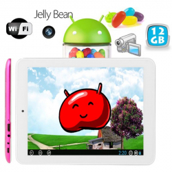 Tablette tactile Android 4.2 Jelly Bean 8 pouces HDMI USB 12 Go Rose - www.yonis-shop.com
