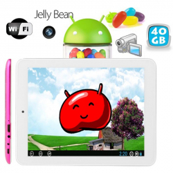 Tablette tactile Android 4.2 Jelly Bean 8 pouces HDMI USB 40 Go Rose - www.yonis-shop.com