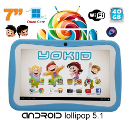 Tablette tactile enfant YOKID quad core 7 pouces Android 5.1 Bleu 40Go - www.yonis-shop.com