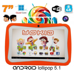 Tablette tactile enfant YOKID 7 pouces quad core Android 5.1 Orange 8Go - www.yonis-shop.com