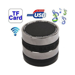 Mini enceinte bluetooth universelle kit mains libres basse Noir