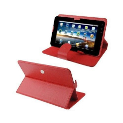 Housse universelle tablette tactile 9 pouces support étui Chic Rouge