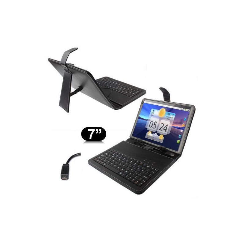 Housse clavier universelle tablette tactile 7 pouces support micro usb - Tablette tactile port usb ...