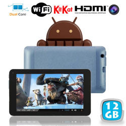 Tablette tactile Android 4.4 KitKat 7 pouces Dual Core Bleu 12 Go - www.yonis-shop.com