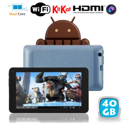Tablette tactile Android 4.4 KitKat 7 pouces Dual Core Bleu 40 Go - www.yonis-shop.com