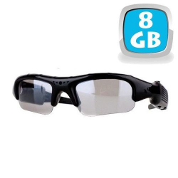 Lunettes camera espion mini appareil photo caché USB Micro SD 8 Go - www.yonis-shop.com
