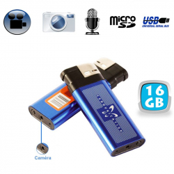 Briquet camera espion appareil photo enregistrement sonore USB 16 Go - www.yonis-shop.com