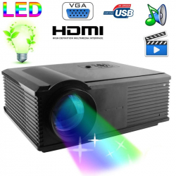 Vidéoprojecteur LED 95W 2800 Lumens Full HD 1080P Home cinema Noir
