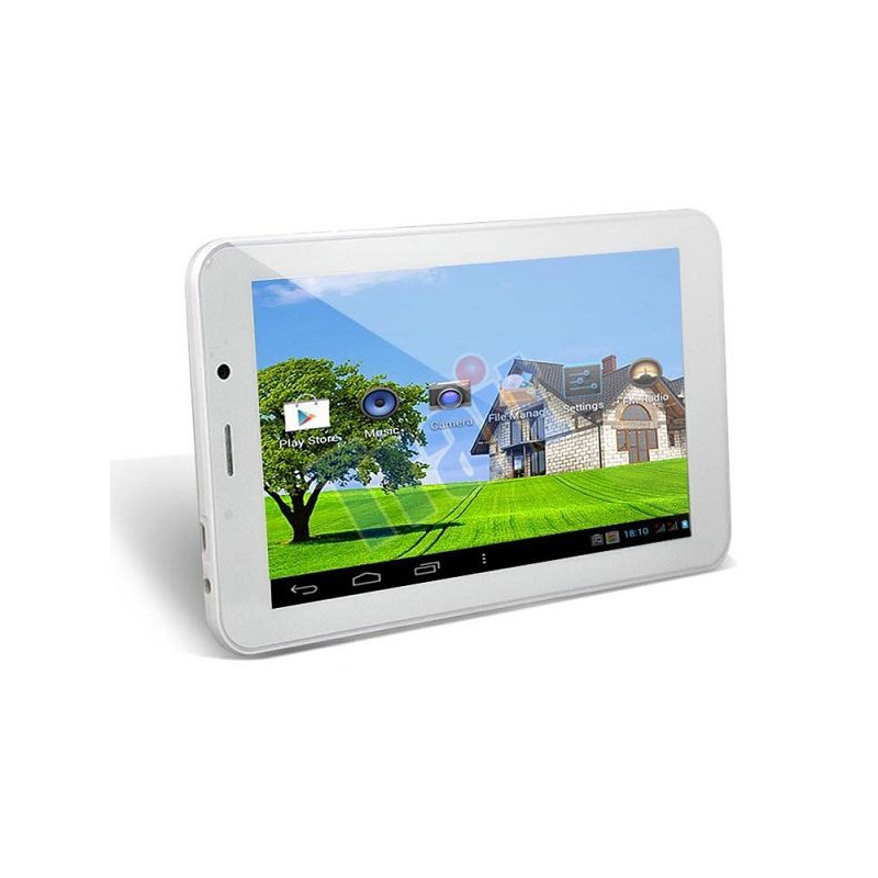 tablette tactile 3g 7 pouces android 4 4 dual core sim gps 4go blanc. Black Bedroom Furniture Sets. Home Design Ideas
