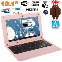 Mini PC Android 4.2 Netbook Ultra portable 10 pouces WiFi 8Go Rose - www.yonis-shop.com