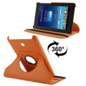 Housse en cuir Asus cover flip Fonepad 7 pouces holder 360° orange - www.yonis-shop.com