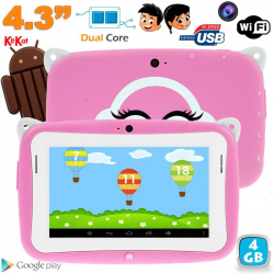 Tablette tactile enfant YoKid Mini 4.3 pouces Android 4.2 rose 4Go - www.yonis-shop.com