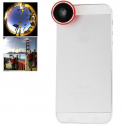 Objectif universel smartphone fish-eye grand angle 180° rouge - www.yonis-shop.com
