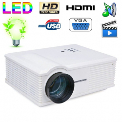 Vidéoprojecteur LED 170W 3000 Lumens Full HD 1080P Home cinema Blanc