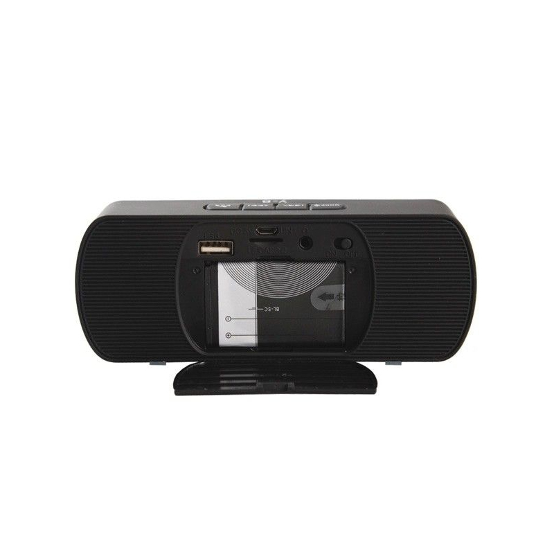 enceinte sans fil bluetooth kit main libre fm micro sd usb noir. Black Bedroom Furniture Sets. Home Design Ideas