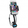 Support auto universel holder voiture smartphone transmetteur FM - www.yonis-shop.com