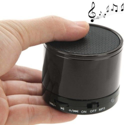 Mini Enceinte Bluetooth universelle smartphone kit mains-libres Gris - www.yonis-shop.com