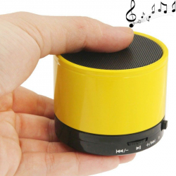 Mini Enceinte Bluetooth universelle smartphone kit mains-libres jaune
