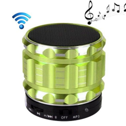 Mini Enceinte bluetooth kit mains libres micro SD USB métal Vert - www.yonis-shop.com