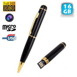 Stylo camera espion Full HD 1080p mini appareil photo Micro SD 16Go