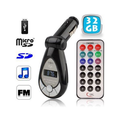 Transmetteur FM MP3 USB Micro carte SD 32 Go Y207