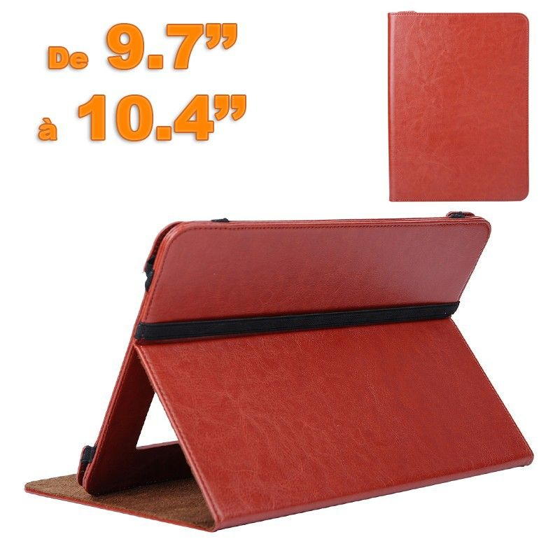Housse universelle rouge simili cuir tablette tactile 9 7 for Housse universelle tablette 10 pouces