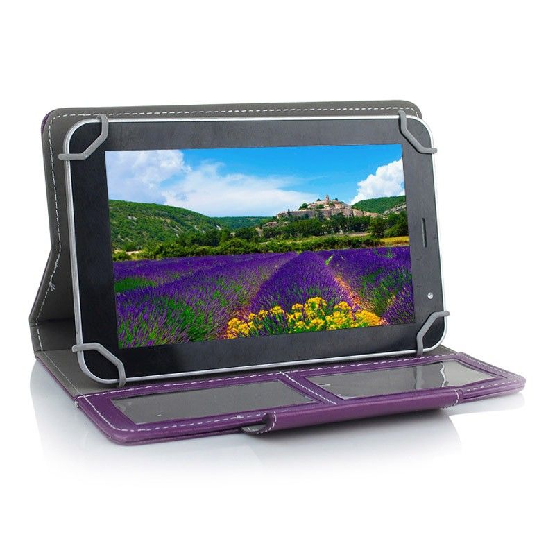 etui de protection tablette 7 pouces 360 simili cuir violet. Black Bedroom Furniture Sets. Home Design Ideas