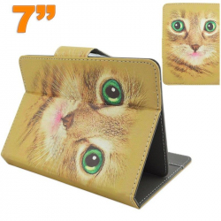 Housse universelle tablette tactile 7 pouces support motif chat