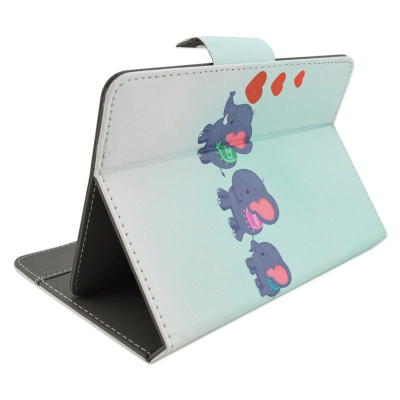 housse universelle  pouces tablette tactile elephants bleu