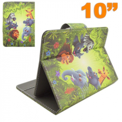 Housse universelle tablette tactile 10 10.1 pouces animaux savane - www.yonis-shop.com