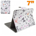 Housse tablette 7 pouces universelle protection ajustable papillon - www.yonis-shop.com