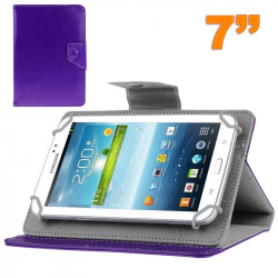 Housse universelle tablette tactile 7 pouces support ajustable Violet