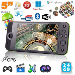 Mini console portable 3G quad core 5 pouces gamepad Android 4.2 80Go