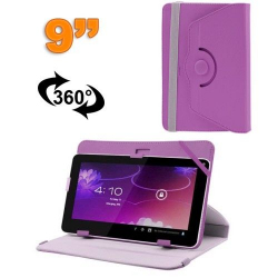 Housse universelle tablette 9 pouces protection support 360° Violet
