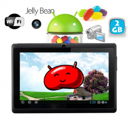 Tablette tactile Android 4.1 Jelly Bean 7 pouces capacitif 3D Noir