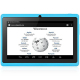 Tablette 7 pouces Bluetooth Quad Core Android 5.1 Lollipop 72Go Bleu - www.yonis-shop.com