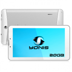 Tablette 3G 7 pouces GPS OTG Android 4.4 Double SIM 20Go Blanc - www.yonis-shop.com