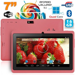 Tablette 7 pouces bluetooth Quad Core Android 4.4 KitKat 12 Go Violet - www.yonis-shop.com