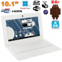 Mini PC Android ultra portable netbook 10 pouces WiFi 8 Go Blanc - www.yonis-shop.com
