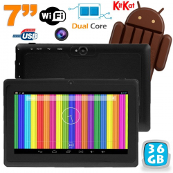 Tablette tactile Android 4.4 KitKat 7 pouces Dual Core 36 Go Noir - www.yonis-shop.com