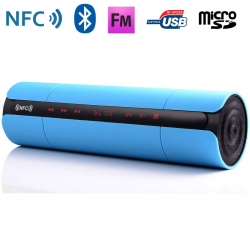 Enceinte Bluetooth universelle portable FM kit mains-libres NFC Bleu