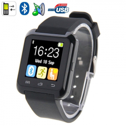 Montre Connectée Bluetooth Android ecran LCD kit main libre Noir
