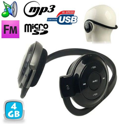 Casque sport lecteur audio MP3 sans fil Radio FM Running 4 Go - www.yonis-shop.com