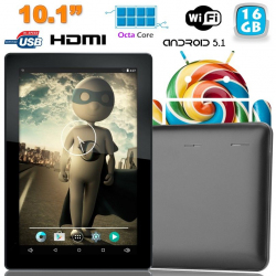 Tablette tactile 10 pouces Android Lollipop 5.1 Octa Core 16Go Noir - www.yonis-shop.com
