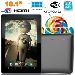 Tablette tactile 10 pouces Android Lollipop 5.1 Octa Core 48Go Noir - www.yonis-shop.com