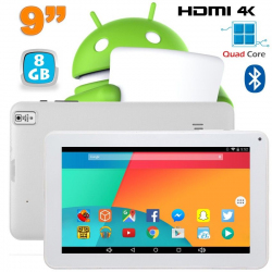 Tablette 9 pouces Android 6.0 HDMI 4K 1,5 GHz 1 Go RAM Blanc 8 Go - www.yonis-shop.com