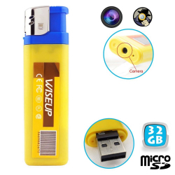 Briquet camera espion mini appareil photo USB Micro SD 32 Go - www.yonis-shop.com