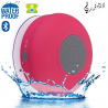 Mini enceinte Bluetooth ronde kit main libre ventouse waterproof rose - www.yonis-shop.com