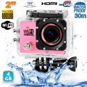 Camera sport wifi étanche caisson waterproof 12 MP Full HD Rose 4Go - www.yonis-shop.com